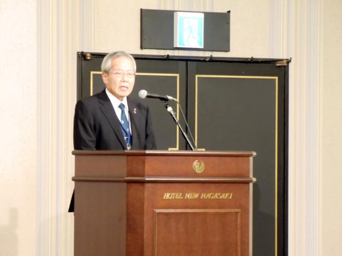 米倉正大企業長の開会挨拶